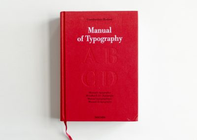 Manual of Typography, Giambattista Bodoni